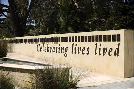 Celebrating Lives Lived memorial wall
