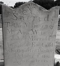 Grave of Mary Ann Morrell