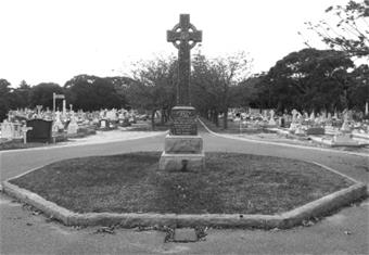 Bishop's Circle Celtic cross monument at Fremantle Cemetery