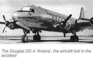 Amana aircraft lost in the accident