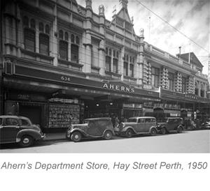Aherns Department Store in Perth 1950